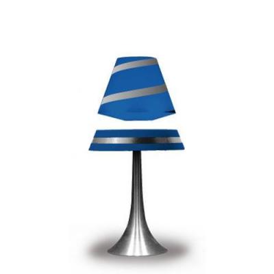 Lampe design avec éclairage par LED qui lévite par magnétisme - Bleu