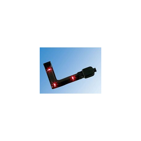 Angle - Coin pour 2 barres de 3 diodes LED rouges