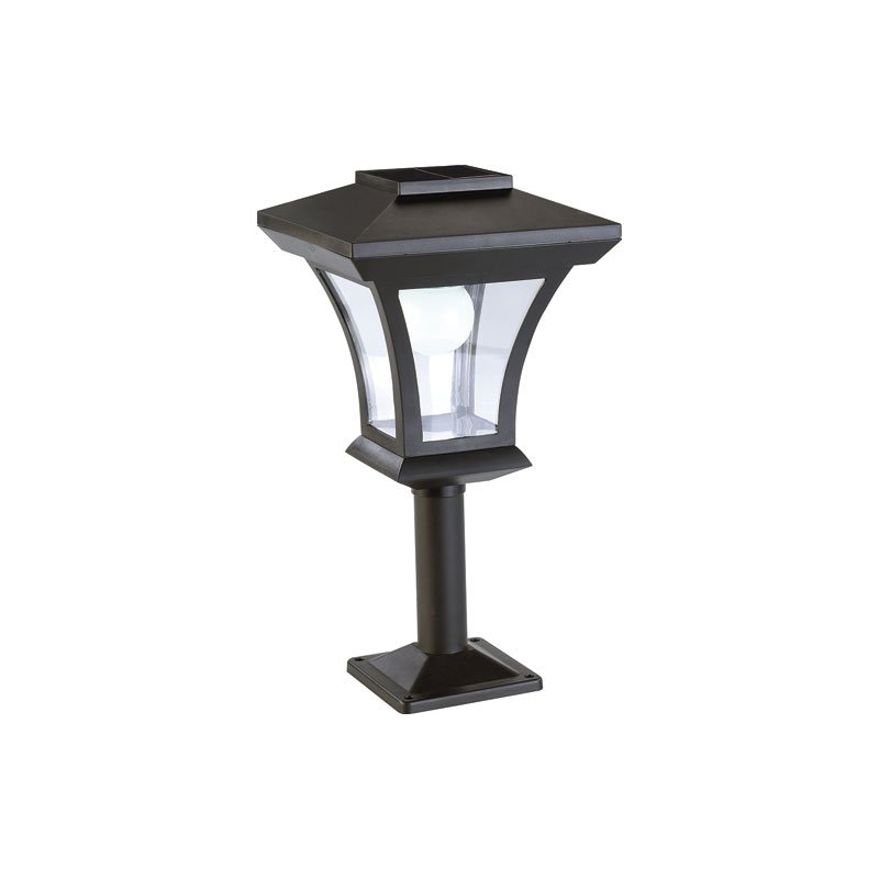 lampadaire d 39 ext rieur led rechargeable l 39 nergie solaire avec pied. Black Bedroom Furniture Sets. Home Design Ideas