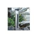 4 lampes de jardin solaires en acier - 40 cm de hauteur