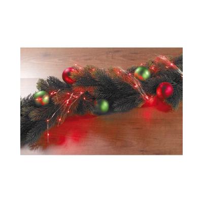 Guirlande d'ampoules à LED vertes - Parfait pour sapin - Longueur 1 m