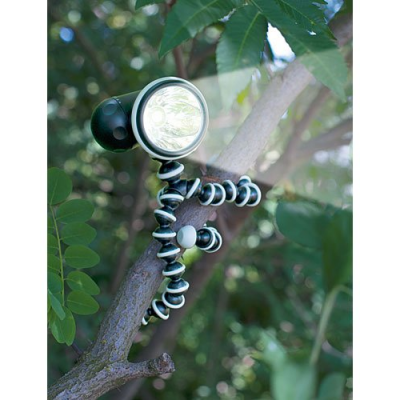 Lampe de poche avec trépied et pieds magnétiques