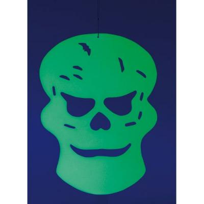 Décoration d'Halloween à suspendre - Tête de mort phosphorescente