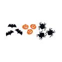 Décoration de table Halloween avec confettis Noirs et Oranges