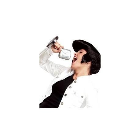 Perruque Banane Elvis - Noire lisse