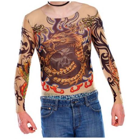 T-Shirts couleur Peau avec des tatouages Tribal