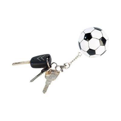 Porte-clés en forme de ballon de foot avec poncho imperméable à l'intérieur