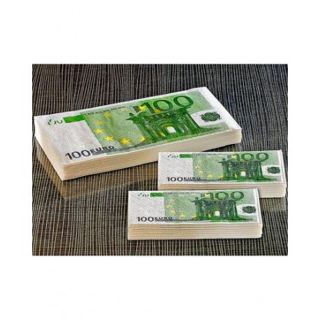 Mouchoirs et serviettes en billets de 100€