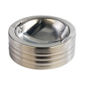 Cendrier en acier inoxydable avec mécanisme de fermeture anti-mauvaise odeur