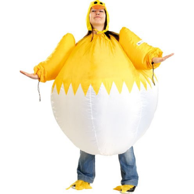 Costume gonflable de Poussin - Taille universelle
