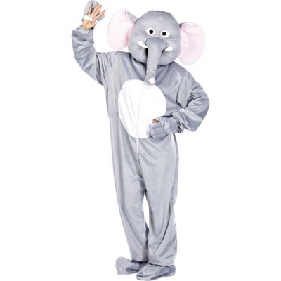 Costume d'Éléphant en fourrure synthétique chaude - Taille universelle - Convient pour l'extérieur