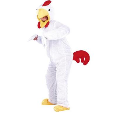 Costume de Poulet en fourrure synthétique - Taille universelle - Convient pour l'extérieur