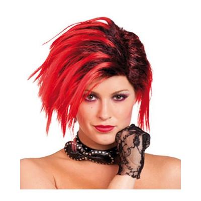 Perruque rouge - noir - fêtes et soirées déguisement