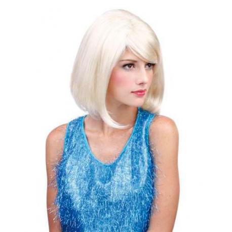 Perruque blonde platine - fêtes et soirées