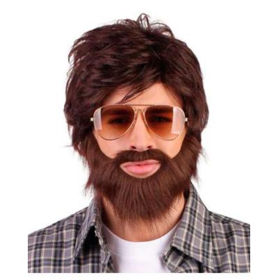 kit perruque barbe moustache Homme déguisement