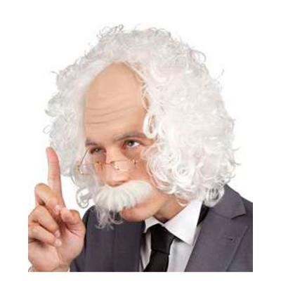 Perruque savant Einstein blanche grise - fêtes et soirées déguisement