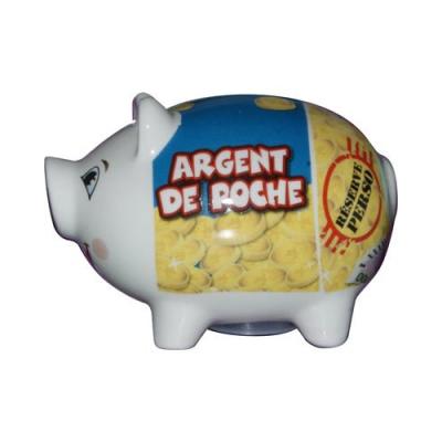 Tirelire Cochon céramique Argent de poche
