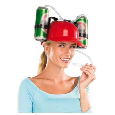 Casque à boisson canettes porte bières soirées et fêtes