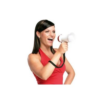 Mini mégaphone 5W rouge et blanc