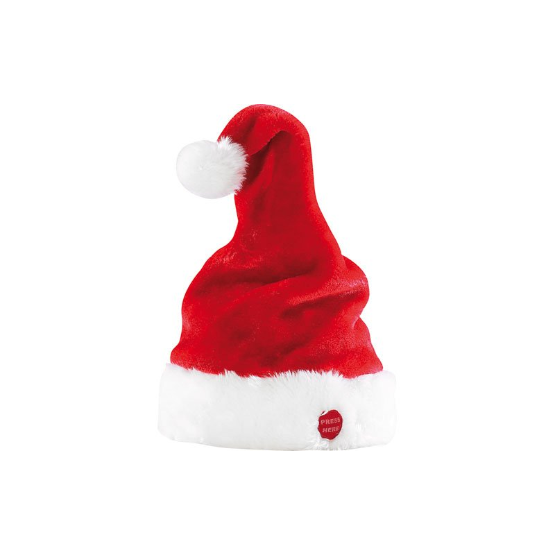 Bonnet animé Père et Mère Noël qui bouge et chante
