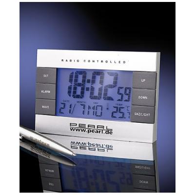 Réveil matin radio piloté thermomètre et calendrier
