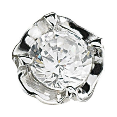 Boucles d'oreilles format Fleurs de Diamant avec boite à cadeau