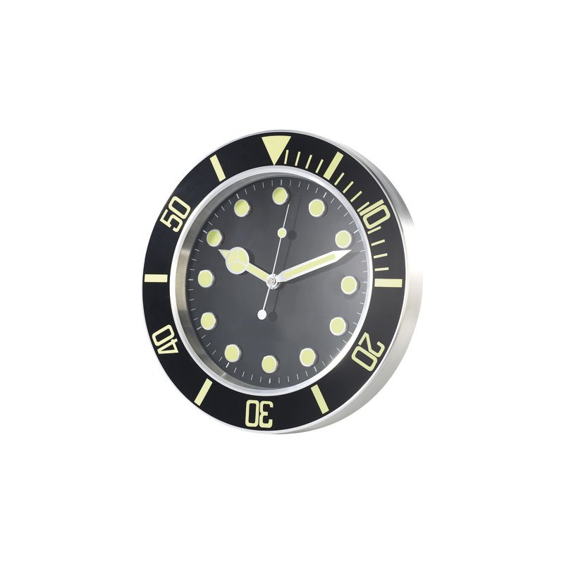f2d6500cf0e Horloge murale style montre sport phosphorescente