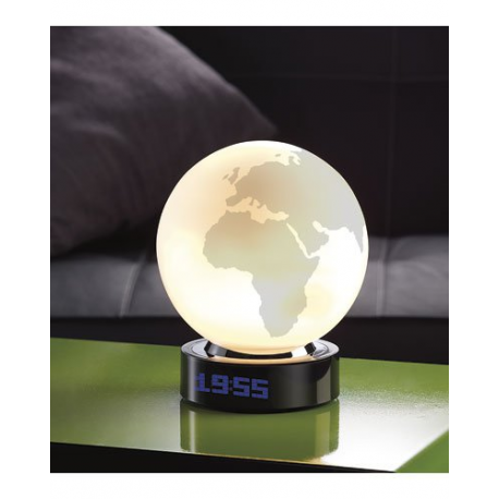 r veil lampe globe terrestre avec 16 m lodies diff rentes. Black Bedroom Furniture Sets. Home Design Ideas