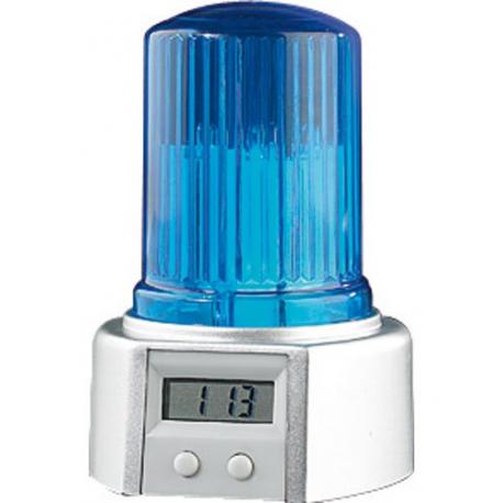Police Style De Réveil Gyrophare Bleu 2ED9HI