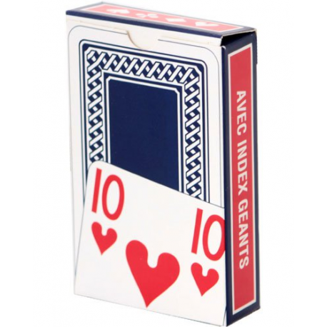 Jeu de 52 cartes - Caractères et symboles agrandis