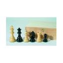32 Pièces d'échecs feutrées en bois de buis 89 mm