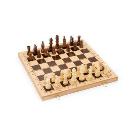 Malette d'échecs en hêtre - Échiquier pliable