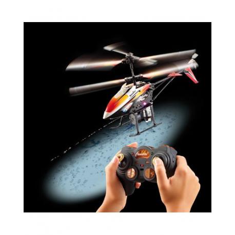 Hélicoptère télécommandé avec Gyrostabilisateur électronique + canon à eau et Batterie 240 mAh - Double rotor 19,8 cm