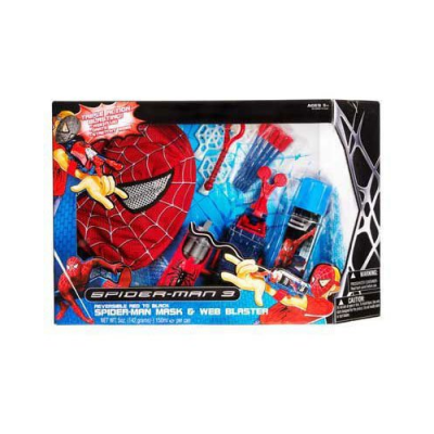 Panoplie Spiderman - Masque + lance projectile + lance toile + figurine