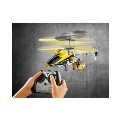 Mini Hélicoptère télécommandé avec gyrostabilisateur électronique et Batterie puissante - 5 rotors - Jaune