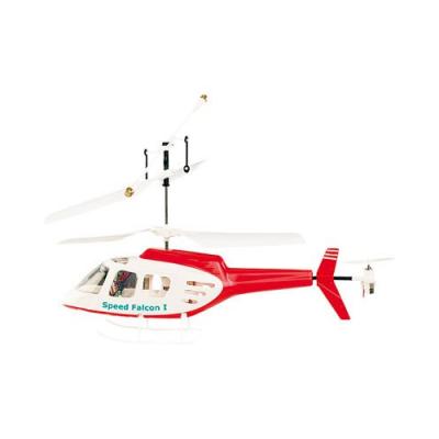 Mini Hélicoptère télécommandé - cockpit très résistant - Double rotor 155 mm - Rouge et Blanc