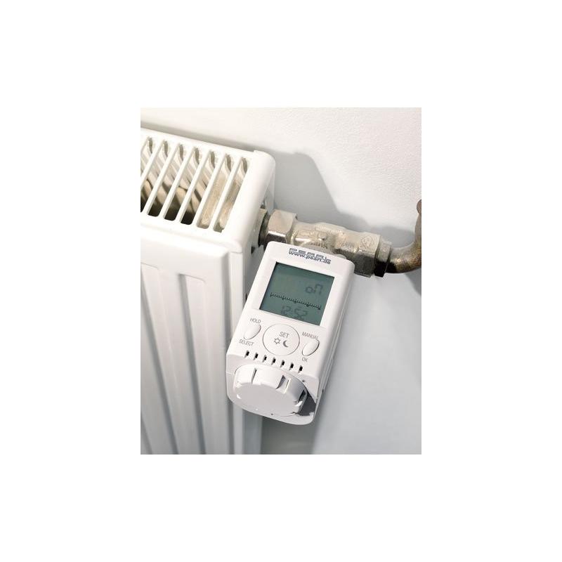 thermostat lectronique pour radiateur ajuste temp rature. Black Bedroom Furniture Sets. Home Design Ideas