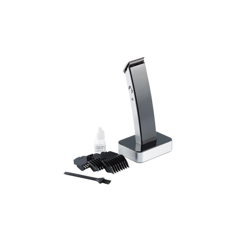 tondeuse lectrique sans fil lames en acier inoxydable cheveux et barbe noir. Black Bedroom Furniture Sets. Home Design Ideas
