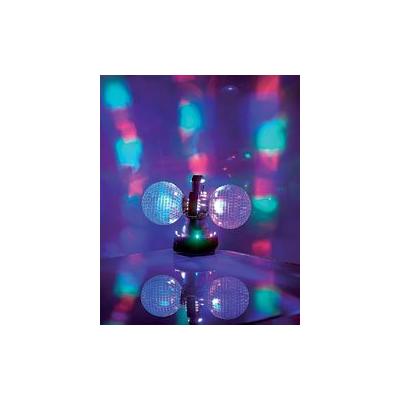 Double boules à facettes motorisées - 32 LED multicolores