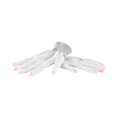 Paire de gants blancs luminescent avec LED aux bouts des doigts - Taille M