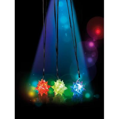 3 Pendentifs en étoiles clignotants à LED couleur changeante pour faire la fête