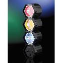 3 Spots de lumière multicolore 141 LED pour faire la fête avec microphone