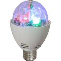 Ampoule rotative pour jeux de lumière à LED - Culot E27 - Rouge Vert Bleu