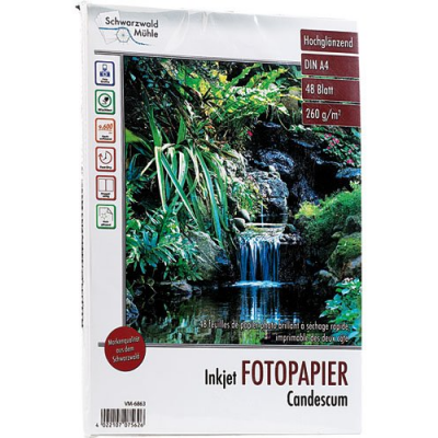 1 ramette de 48 feuilles papier photo face brillant - 260 g