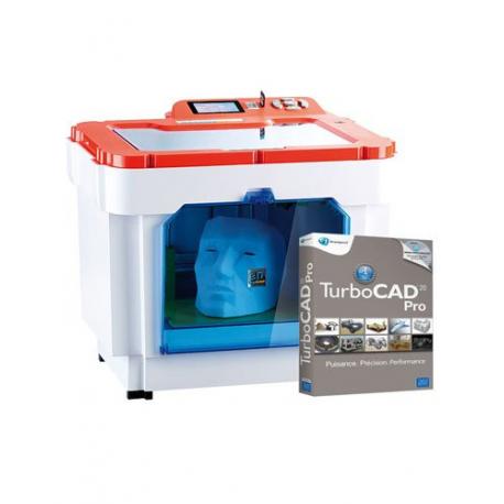 Imprimante 3D - Dimensions max. de l'objet (LxPxH) 225 x 145 x 150 mm + logiciel TurboCad 20 Pro - Marque FreeSculpt