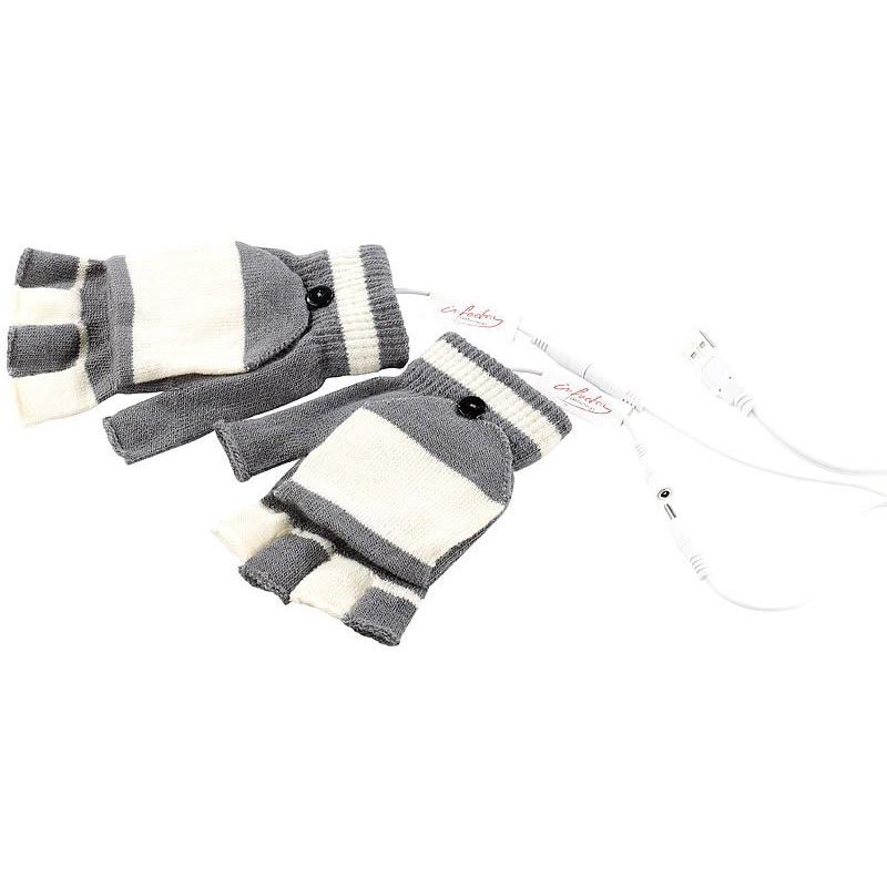 Ponacat Gants chauffants USB lavables avec embout complet et demi-doigts jeux hiver et ext/érieur bureau travail Chauffe-mains respirant double face pour /équitation ski