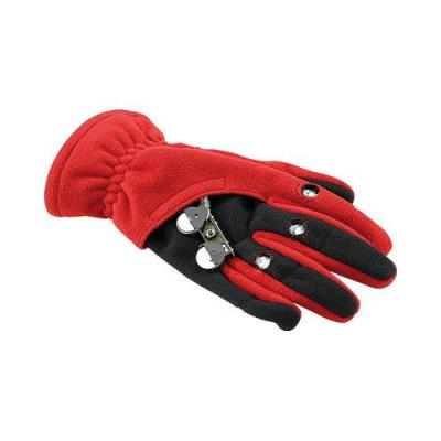 Gants polaires avec 3 LED - Taille S - Rouge