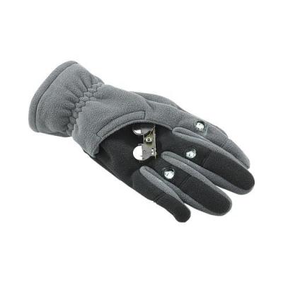 Gants polaires avec 3 LED - Taille L - Noir