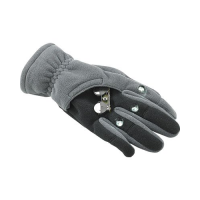 Gants polaires avec 3 LED - Taille XL - Noir
