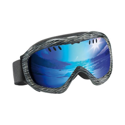 Masque de ski avec protection anti-UV + étui de transport rigide antichoc